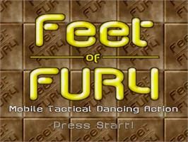 Title screen of Feet of Fury on the Sega Dreamcast.