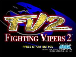 Title screen of Fighting Vipers 2 on the Sega Dreamcast.