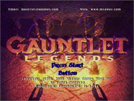 Title screen of Gauntlet Legends on the Sega Dreamcast.