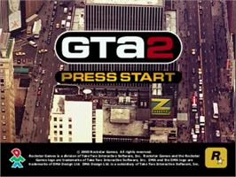 Title screen of Grand Theft Auto 2 on the Sega Dreamcast.