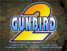 Title screen of Gunbird 2 on the Sega Dreamcast.