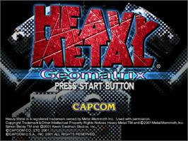 Title screen of Heavy Metal Geomatrix on the Sega Dreamcast.
