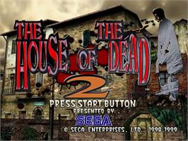 Title screen of House of the Dead 2 on the Sega Dreamcast.