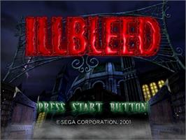Title screen of Illbleed on the Sega Dreamcast.