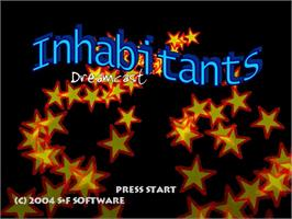 Title screen of Inhabitants on the Sega Dreamcast.
