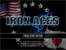 Title screen of Iron Aces on the Sega Dreamcast.