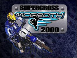 Title screen of Jeremy McGrath Supercross 2000 on the Sega Dreamcast.