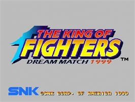 Title screen of King of Fighters: Dream Match 1999 on the Sega Dreamcast.