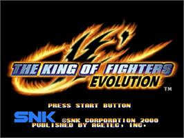 Title screen of King of Fighters '99 - Millenium Battle, The on the Sega Dreamcast.