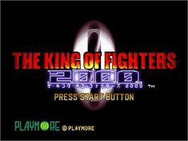 Title screen of King of Fighters 2000 on the Sega Dreamcast.