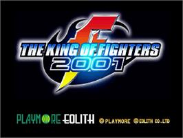 Title screen of King of Fighters 2001 on the Sega Dreamcast.