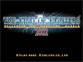 Title screen of King of Fighters 2002: Challenge to Ultimate Battle on the Sega Dreamcast.