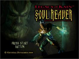 Title screen of Legacy of Kain: Soul Reaver on the Sega Dreamcast.