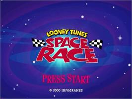 Title screen of Looney Tunes Space Race on the Sega Dreamcast.