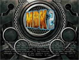Title screen of MDK2 on the Sega Dreamcast.