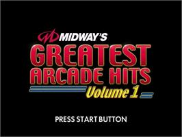 Title screen of Midway's Greatest Arcade Hits 1 on the Sega Dreamcast.