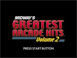 Title screen of Midway's Greatest Arcade Hits 2 on the Sega Dreamcast.