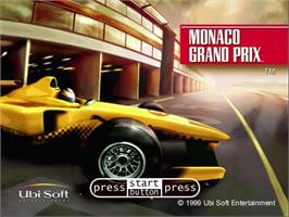 Title screen of Monaco Grand Prix on the Sega Dreamcast.