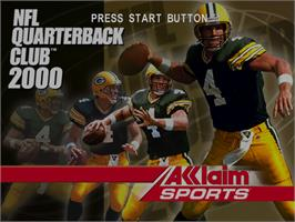 Title screen of NFL Quarterback Club 2000 on the Sega Dreamcast.