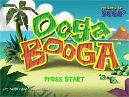 Title screen of Ooga Booga on the Sega Dreamcast.