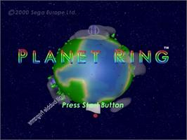 Title screen of Planet Ring on the Sega Dreamcast.