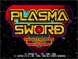 Title screen of Plasma Sword: Nightmare of Bilstein on the Sega Dreamcast.