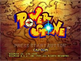 Title screen of Power Stone on the Sega Dreamcast.