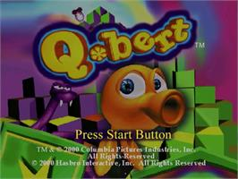 Title screen of Q*bert on the Sega Dreamcast.