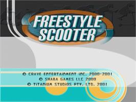 Title screen of Razor Freestyle Scooter on the Sega Dreamcast.