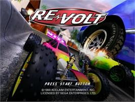 Title screen of Re-Volt on the Sega Dreamcast.