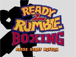 Title screen of Ready 2 Rumble Boxing on the Sega Dreamcast.