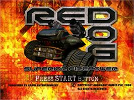 Title screen of Red Dog: Superior Firepower on the Sega Dreamcast.