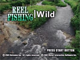 Title screen of Reel Fishing: Wild on the Sega Dreamcast.