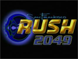 Title screen of San Francisco Rush 2049 on the Sega Dreamcast.