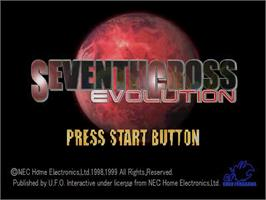 Title screen of Seventh Cross Evolution on the Sega Dreamcast.