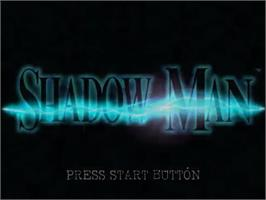 Title screen of Shadow Man on the Sega Dreamcast.