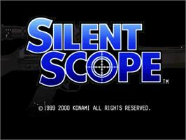 Title screen of Silent Scope on the Sega Dreamcast.
