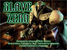 Title screen of Slave Zero on the Sega Dreamcast.