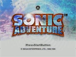 Title screen of Sonic Adventure on the Sega Dreamcast.