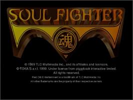 Title screen of Soul Fighter on the Sega Dreamcast.