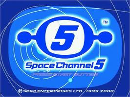 Title screen of Space Channel 5 on the Sega Dreamcast.