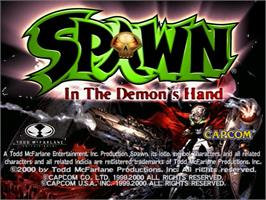 Title screen of Spawn: In the Demon's Hand on the Sega Dreamcast.