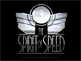 Title screen of Spirit of Speed 1937 on the Sega Dreamcast.