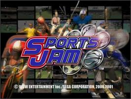 Title screen of Sports Jam on the Sega Dreamcast.
