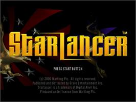 Title screen of StarLancer on the Sega Dreamcast.