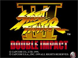 Title screen of Street Fighter III: Double Impact on the Sega Dreamcast.