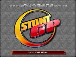 Title screen of Stunt GP on the Sega Dreamcast.