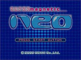Title screen of Super Magnetic Neo on the Sega Dreamcast.