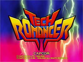 Title screen of Tech Romancer on the Sega Dreamcast.