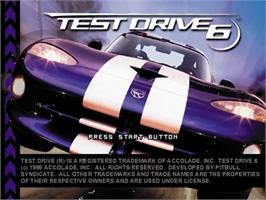 Title screen of Test Drive 6 on the Sega Dreamcast.